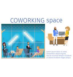 Work in creative freelance shared workspace banner vector