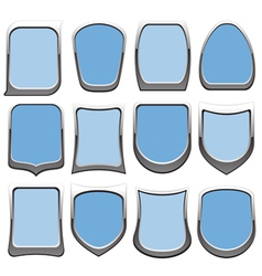 badges blue vector image vector image