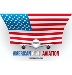 Civil Aircraft with flag vector image vector image