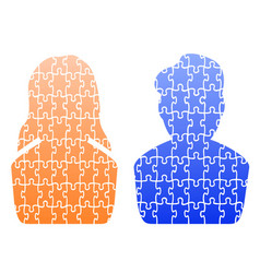 human head jigsaw patterns vector image