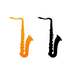 icon of saxophone vector image vector image