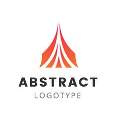 letter a company logo design template triangle vector image vector image