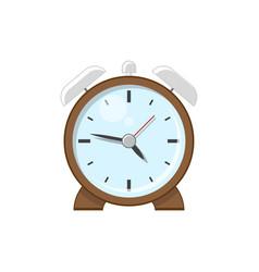 desktop retro alarm clock vector image vector image