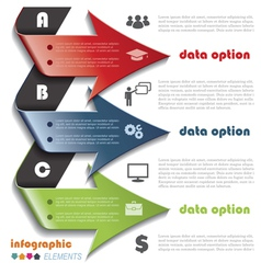 Modern arrows for Infographics template vector image vector image