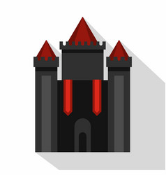 ancient fort icon flat style vector image vector image