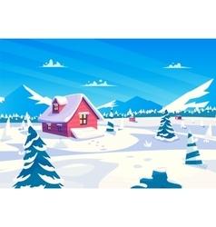 cartoon of a beautiful snow vector image vector image