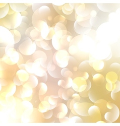 Gold Colored Abstract Lights Background vector image