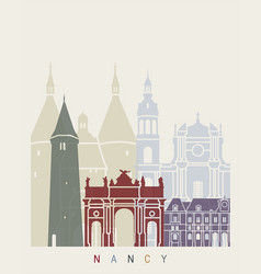 nancy skyline poster vector image