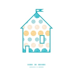 Texture circles stripes abstract house silhouette vector