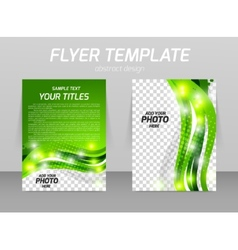 Abstract flyer template design vector image
