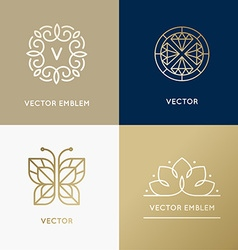 abstract modern logo design templates in trendy vector image
