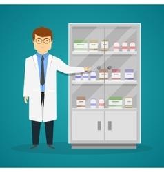 Advertisement Of Medicaments Design vector image vector image