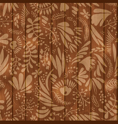floral and flower seamless pattern on vector image