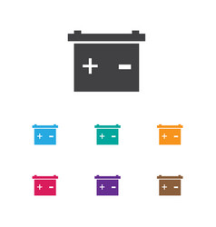 Of car symbol on battery icon vector