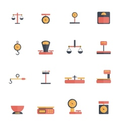 Scales Weight Icon Flat vector image