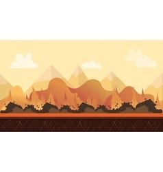 Seamless cartoon nature landscape vector image vector image