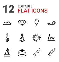 12 celebrate icons vector
