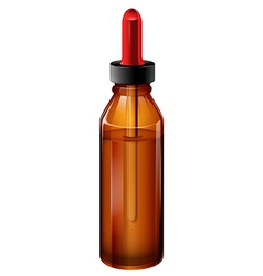 A medical bottle with a dropper vector