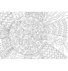Abstract drawing of sun for coloring book vector