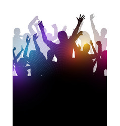 Abstract party crowd vector