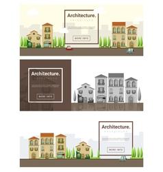 Architecture background Cityscape banner 2 vector