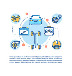 Auto care concept icon with text vector