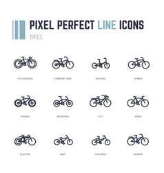 Bike frames icons vector
