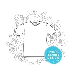 Blank t-shirt design concept Hand drawn style vector image