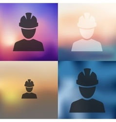 Builder icon on blurred background vector