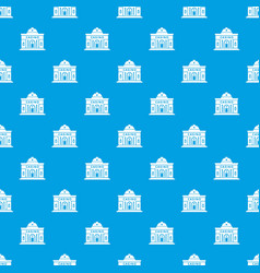 Casino building pattern seamless blue vector
