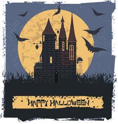 Dark witch castle vector