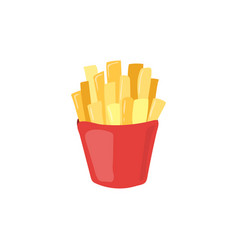 Fast food french fries icon unhealthy eating vector