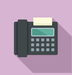 Fax telephone icon flat style vector