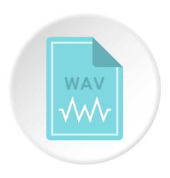 File wav icon circle vector