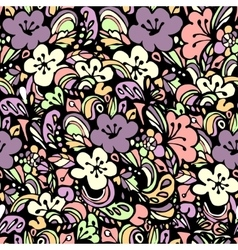 Floral pattern pink vector