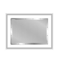 Frame metal on aluminium plate vector