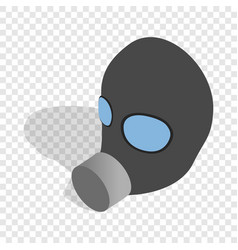 gas mask isometric icon vector image