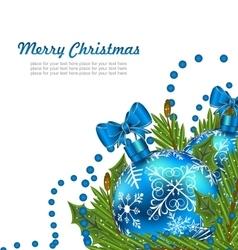 Greeting postcard with christmas balls vector