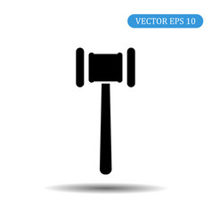 hammer black icon eps 10 vector image