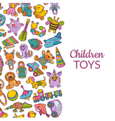 Hand drawn children or kid toys vector