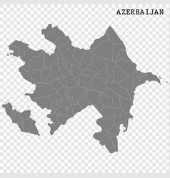 High quality map with borders vector