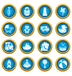 Kids toys icons set simple style vector