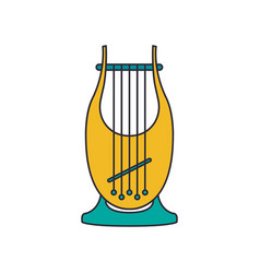 kinor harp icon cartoon style vector image