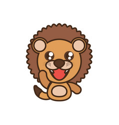 lion baby animal kawaii design vector image