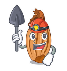 Miner ripe shallot isolated on a mascot vector