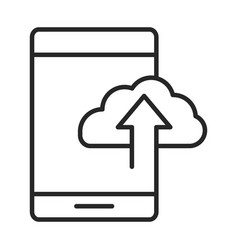 mobile phone or smartphone cloud storage data vector image