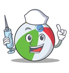 Nurse ball character cartoon style vector
