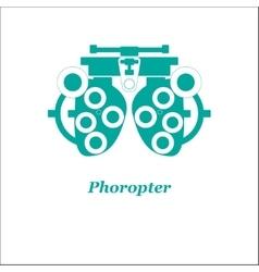 Phoropter Optician vector
