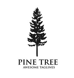 Pine tree outdoor travel green silhouette forest vector