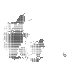 Pixel map of denmark dotted map of denmark vector